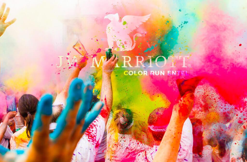 btl marriot color run entel